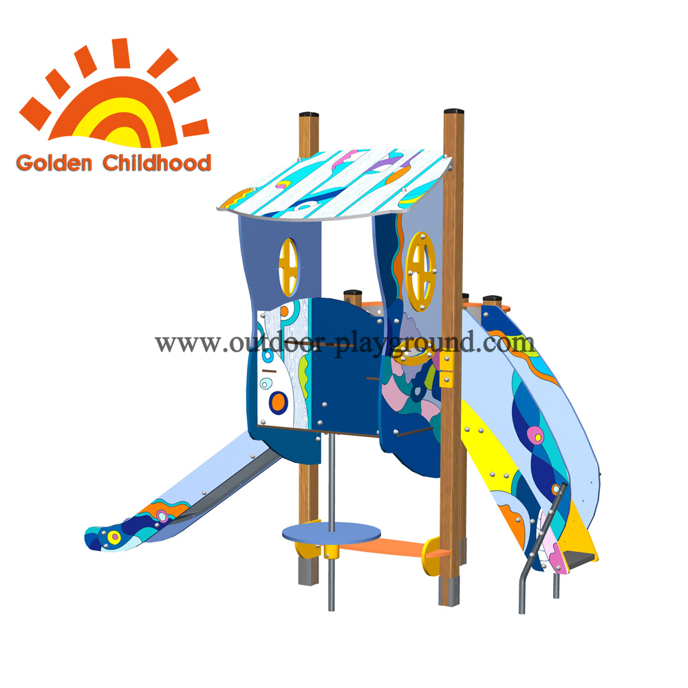 Playhouse With Slide Outdoor Playground Equipment For Sale