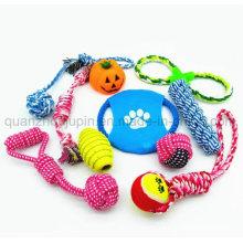 Custom Pet Dog Chew Bite Rope Knot Ball Toy Set