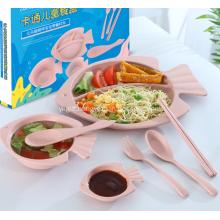 Healthy Wheat Straw Children Tableware Set