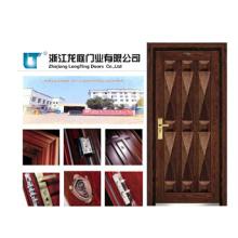Soncap CIQ genehmigt China Eintrag Rüstung Stahl Holz gepanzerte Tür