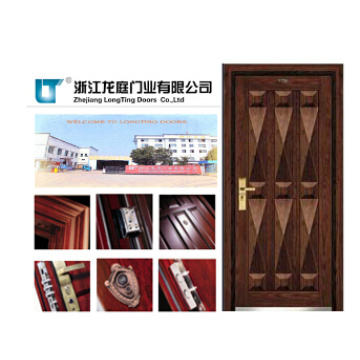 Soncap CIQ Approved China Entry Armor Steel Wooden Armored Door