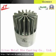 Liga de alumínio fundição parte do dissipador de calor parte