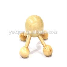 masajeador vibratorio de madera con 4 patas