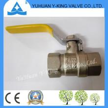Stock para manija amarilla de acero forjó las válvulas de fontanería de latón para el gas (YD-1076)