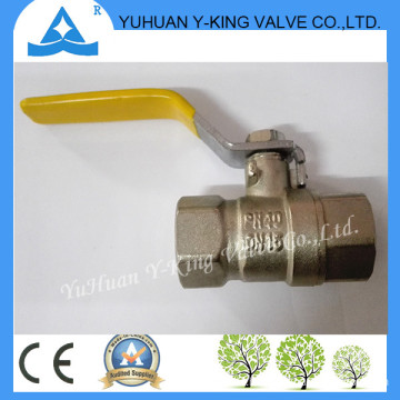 Stock for Steel Yellow Handle Forged Brass Plumbing Valves for Gas (YD-1076)