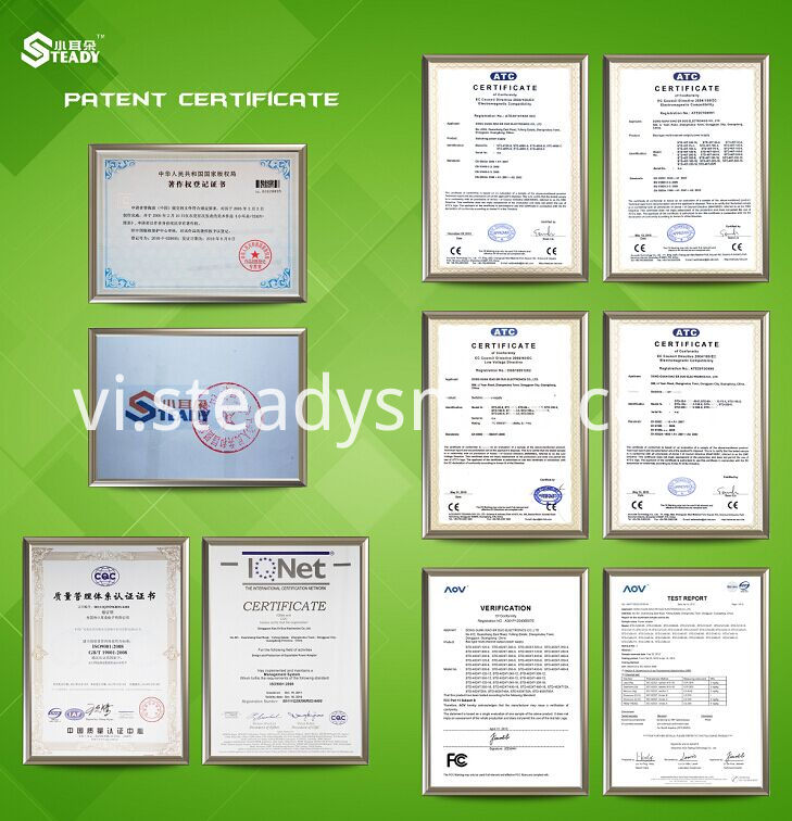 Certification of power supply