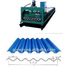 QJ-750 Hierro hoja de techos que hace la máquina