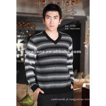 Elegante modelo Men's cashmere v neck sweater