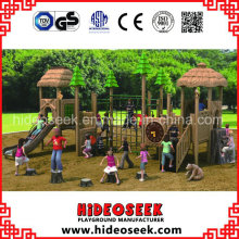 ASTM Standard Large Wood Color Outdoor Playground Equipment with Slide