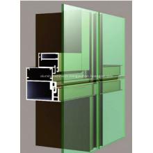 Profilé de porte et de fenêtre en aluminium