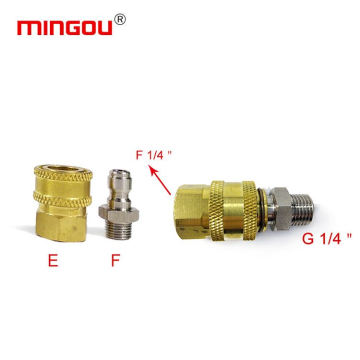 Cleaning adapters fitting for high pressure hose