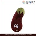 EN71 aprovado por atacado berinjela em forma de brinquedo vegetal de pelúcia travesseiro
