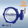 dn100 pn16 flange butterfly valve dn300 electric operation butterfly valve