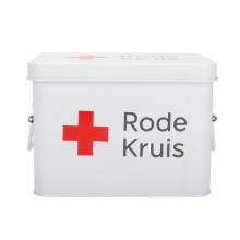 Weiß Erste-Hilfe-Kasten Metalldose Aufbewahrungsbox