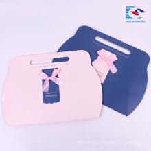 Impressão personalizada de papel cortado presente embalagem caixa de travesseiro