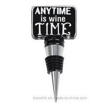 Jederzeit ist Wein Zeit Tafel Wein Stopper