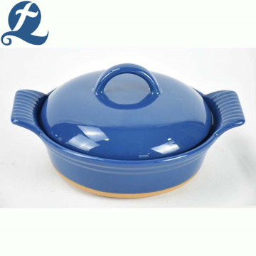 New arrivals solid color handle bakeware with lid