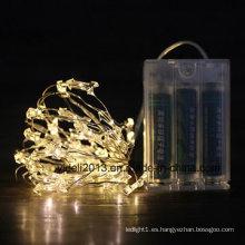 Cadena de luces Ledchristmas de alambre de cobre blanco para decoración