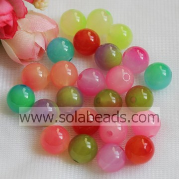 Easter Decoration 18mm Acrylic Plastic Round Smooth Tiny beads