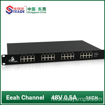 16 poorten non-management POE Switch