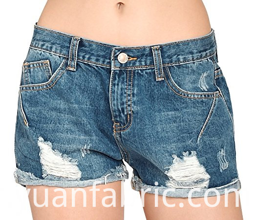 537women Vintage Distressed Cotton Jeans Denim Shorts
