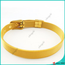 Pulseiras de aço inoxidável de ouro para encantos de slides (B16041921)