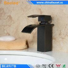 Black Orb Bathroom Brass Sanitary Waterfall Sink Faucet