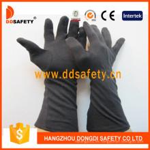 Guante de algodón negro con manguito largo Dch248