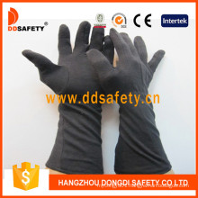 Black Cotton Glove with Long Cuff Dch248