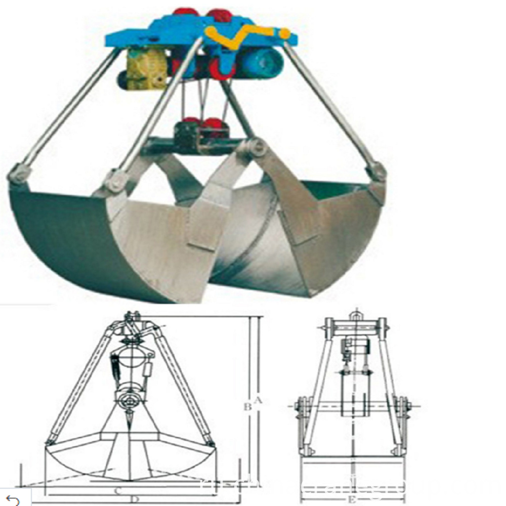 defaultOverhead Crane Used Mechanical Clamshell Grab Bucket-LT