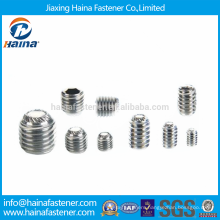 Stock SS Socket Set Screw with Knurled Cup Point