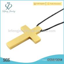 In stock 24k gold pendant,stainless steel fashion pendants,single design cross pendant