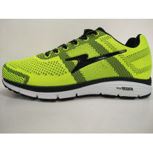 Bright Color Lemon Yellow Fly Knitting Gym Footwear