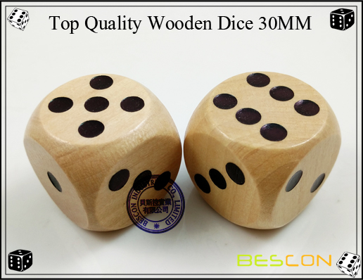 Top Quality Wooden Dice 30MM-3