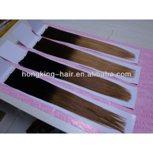 wholesale grade 5a remy ombre two tone tape hair extension