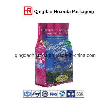 Bolsa de empaquetado para alimentos pesados para mascotas con fuelle lateral