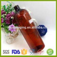 1000ml grossista amber boston garrafa química de plástico vazio com alta qualidade