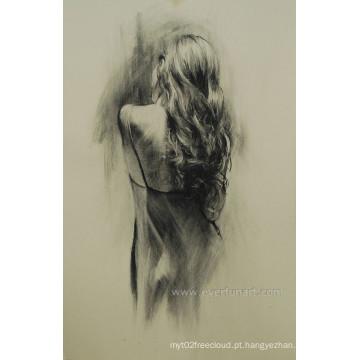 Arte despida a mais nova do Nude da pintura a óleo