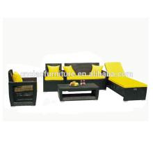 Мебель из ротанга открытый диван с шезлонгом