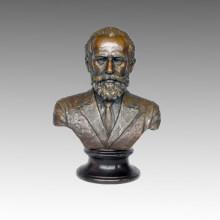 Büsten Bronze Skulptur Musiker Tschaikowski Messing Statue TPE-621