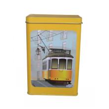 Boîte en étain pour emballage en métal au thé Jy-Wd-2015112713