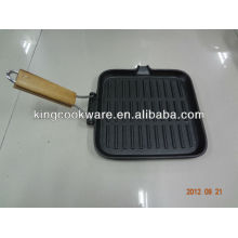 Cast Iron Grill Pan with Foldable Handle