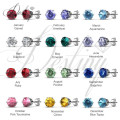 Destino joias cristais de Swarovski Macaron brincos