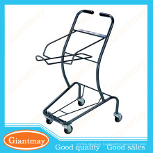 two layers japanese style new arts and crafts shopping cart