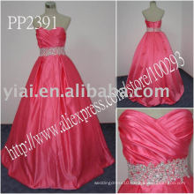 2011 high quality drop shipping manufacture sexy one shoulder beaded evening gown PP2391