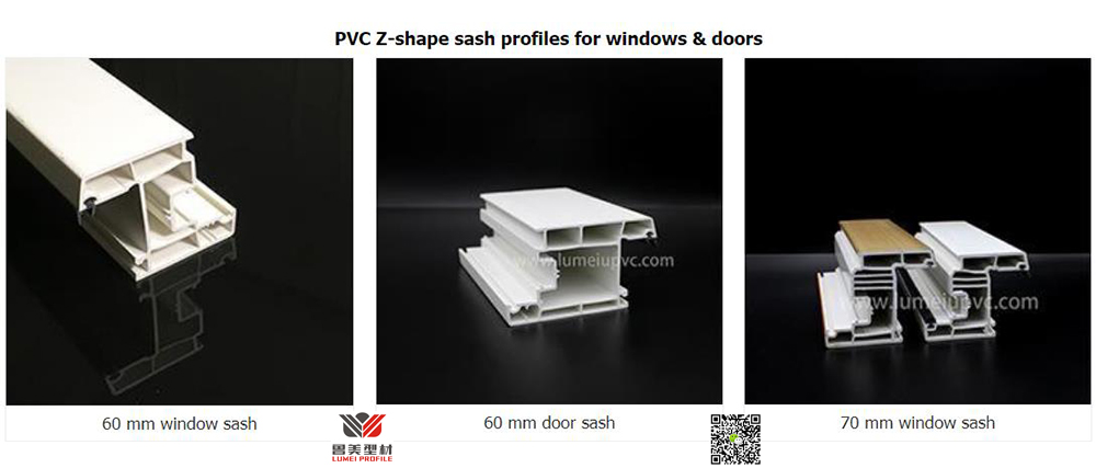 Z shape UPVC Sash Profiles