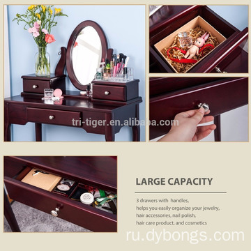 Dresser Professional Table Makeup Girls Wooden Table