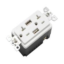 BAS20-2USB UL listó toma de corriente estándar 20A 125V gfci toma de corriente