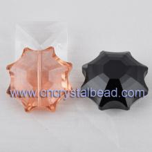 Cristal forme tournesol bijoux perles de cristal