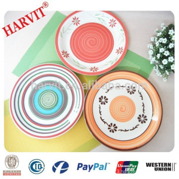 10.5 inches dinner plate/Ceramic hand painted dinner plate